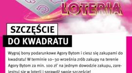 """""""Szczęście do kwadratu"""": łączna pula nagród to aż 40 tysięcy złotych LIFESTYLE, Finanse - Wystarczy jeden zakup, by wygrać """"Szczęście do kwadratu"""". 10 września w Agorze Bytom rusza loteria, w której do zgarnięcia są bony podarunkowe o łącznej wartości aż 40 tysięcy złotych!"""