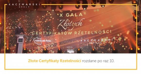 Rzetelni przedsiębiorcy mimo pandemii BIZNES, Finanse - 225 firm z całej Polski odebrało złote i diamentowe Certyfikaty Rzetelności podczas jubileuszowej X gali, która w tym roku ze względu na pandemię odbyła się w Internecie.